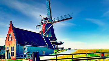 Meelmolen De Herder, Medemblik van Digital Art Nederland