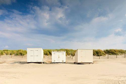 strandhuisje langs de Nederlandse kust