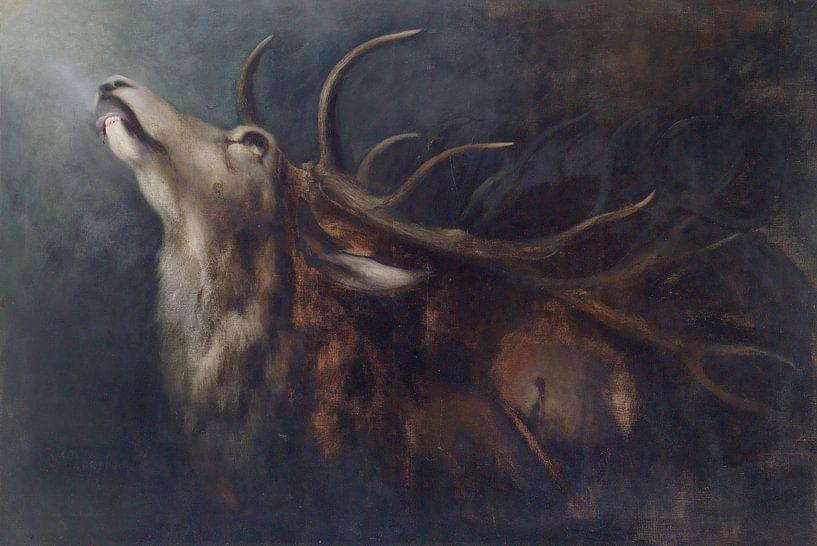 Stervend hert, Karl Wilhelm Diefenbach van Atelier Liesjes