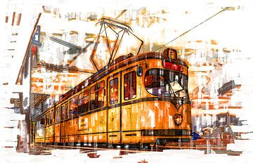 Tram in Düsseldorf van Johnny Flash