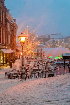 Sneeuw in Leiden van Richard Steenvoorden