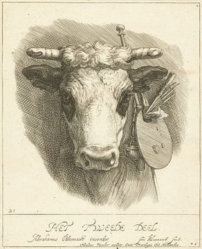 Abraham Bloemaert, Titelpagina, Teekenboek, deel 2, ca 1679 van Atelier Liesjes