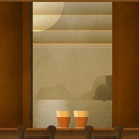 Koffie aan zee van Joost Hogervorst