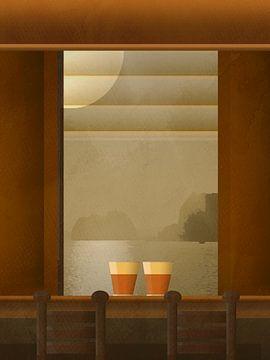 Koffie aan zee