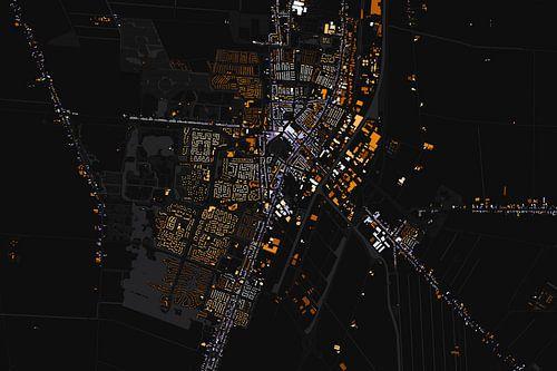 Kaart van Veendam abstract van