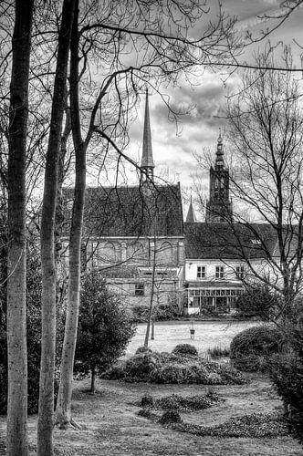 Sint Aegtenkapel historisch Amersfoort zwartwit