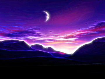 Mondschein bei Nacht von Alexandra Kleist
