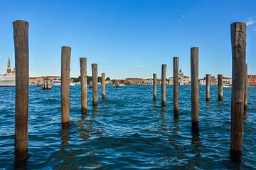 paaltjes in het water in perspectief van Patrick Verhoef