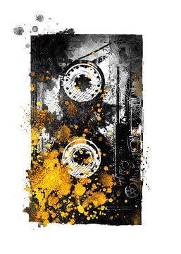Musikband gold und schwarz #music #musictape von JBJart Justyna Jaszke