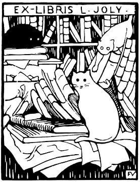 Katzen in der Bibliothek, Felix Vallotton - 1893 von Atelier Liesjes
