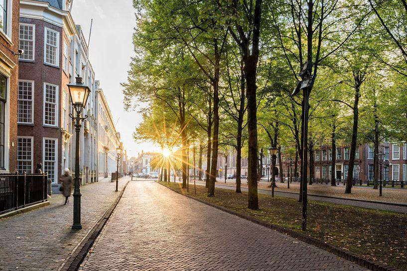 Het Lange Voorhout, Den Haag (Zonsondergang) van John Verbruggen