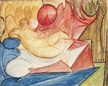 Nackte liegende Frau, Leon Chwistek - 1922 von Atelier Liesjes