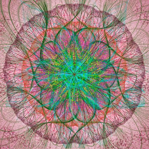mandala, roze groen