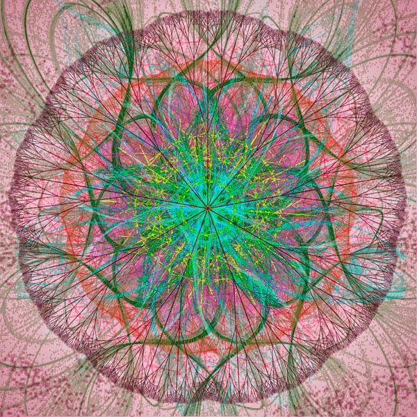 mandala, roze groen van Rietje Bulthuis