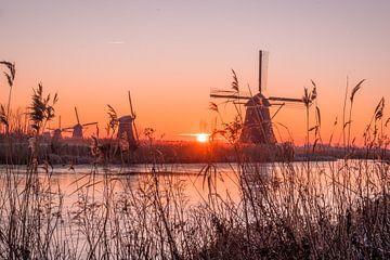 Kinderdijk zonsopkomst van Marleen Kuijpers