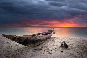 Zanzibar sunset van