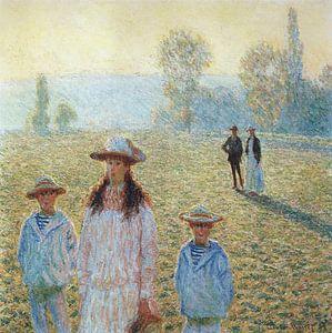 Landschaft bei Giverny, Claude Monet von The Masters