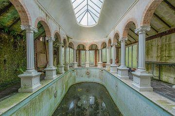 Salle de bains et campement ; mousse sur Lien Hilke