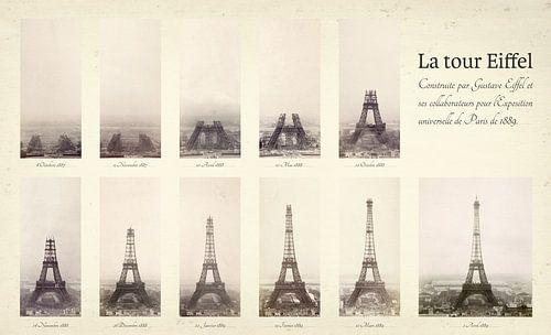 Der Bau des Eiffelturms von Origami Art