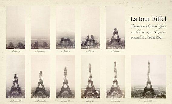 De bouw van de Eiffeltoren van Origami Art