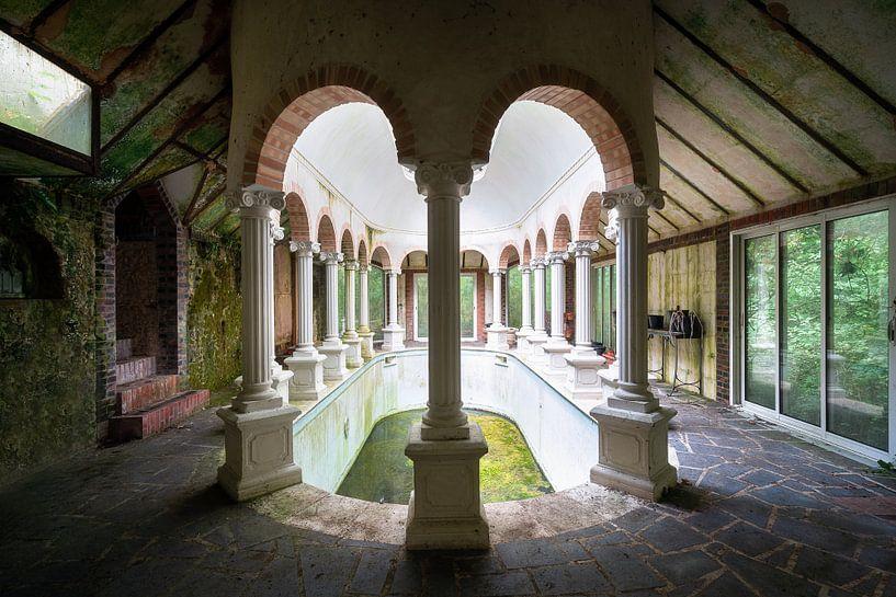 Verlassener Pool im Haus. von Roman Robroek