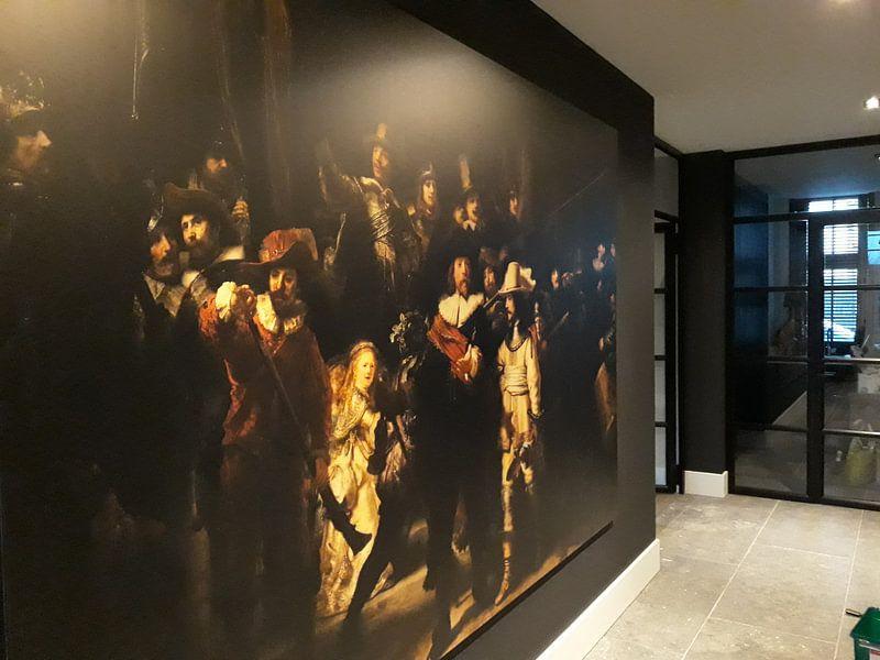 Klantfoto: De Nachtwacht,Rembrandt van Rijn van Rembrandt van Rijn