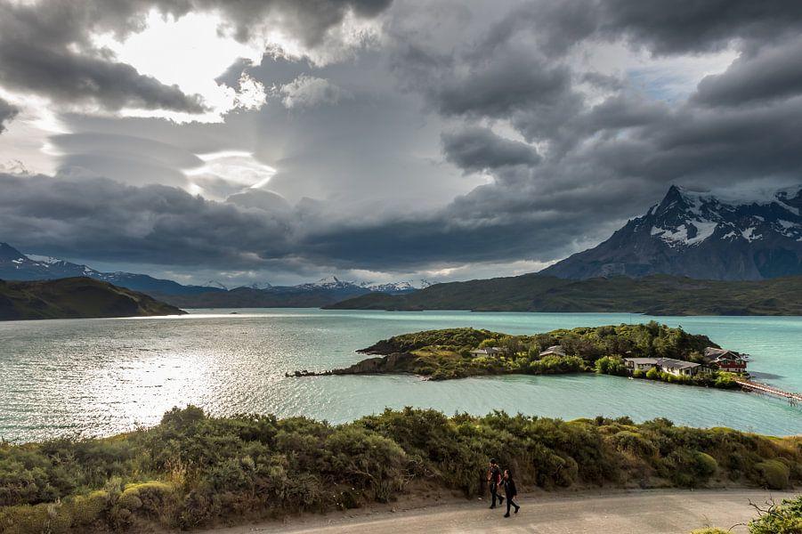 Meer in Patagonie, Chili van Trudy van der Werf