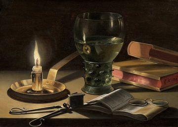 Stilleven met brandende kaars, Pieter Claesz van