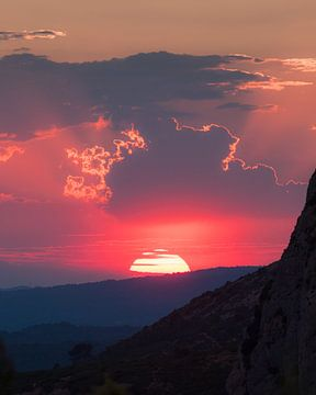 Zonsondergang in Provence