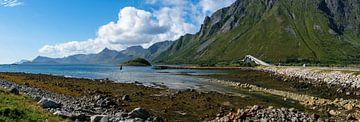 Brug over het fjord van