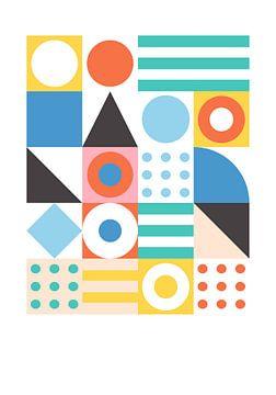 Absorber un patchwork de formes géométriques sur Raymond Wijngaard