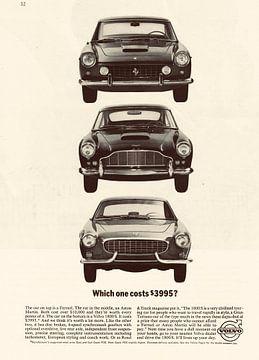 Werbung 1964 Volvo Ferrari Austin Martin von Jaap Ros