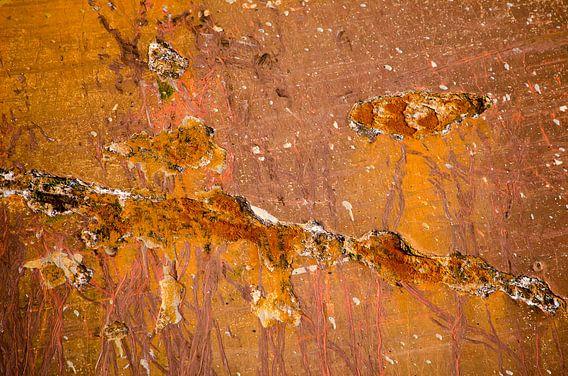 Rode scheepsromp met roestplekken van Frans Blok