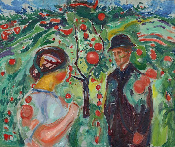 Onder de rode appels, Edvard Munch... van Meesterlijcke Meesters