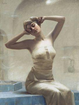 Frau in der Badewanne, Theodoros Ralli von Atelier Liesjes