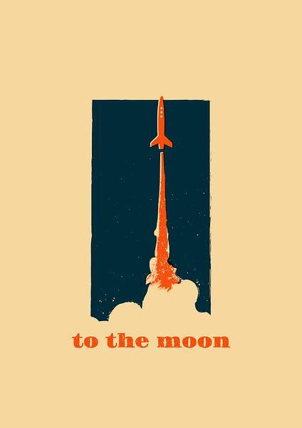 To the moon van Rene Hamann