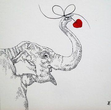 HeartFlow Olifant von Helma van der Zwan