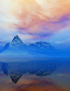 Besneeuwde bergen bij zonsopgang van Angel Estevez
