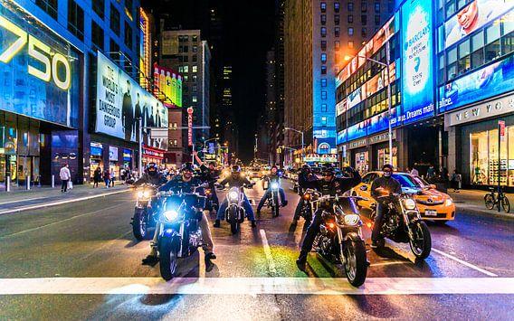 New York bikers van Richard Reuser