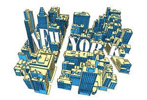New York Perspective van Maarten Schets