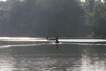 Fischer auf dem Sanker River van Levent Weber