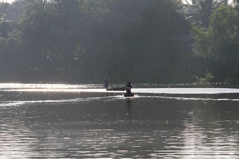 Fischer auf dem Sanker River von Levent Weber