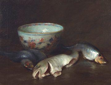 Stilleben mit Fischen, William Merritt Chase