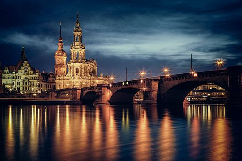 Augustusbrücke und Hofkirche Dresden II