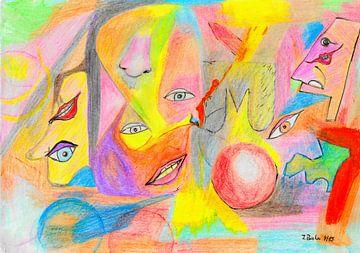 Blije gezichten van Johann Bucher