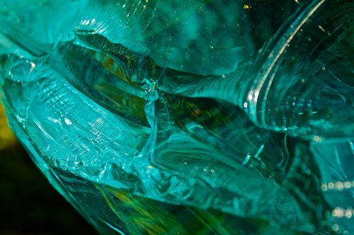 Glas in close-up van