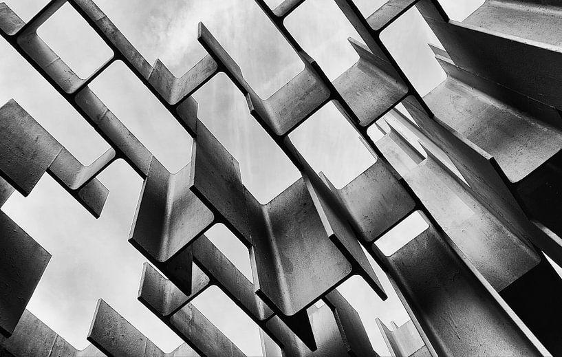Mondriaan  in zwart wit van Margaretha Gerritsen