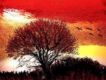 Der alte Baum van Heidrun Carola Herrmann