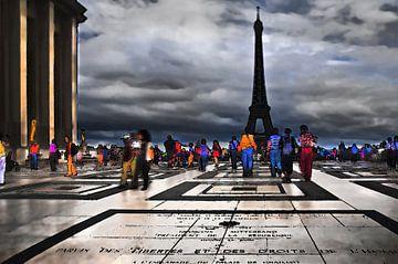 Paris Mon Amour, Eiffel toren, Paris van Fons Bitter