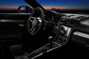 Porsche GT4 Innenraum Sonnenuntergang von Maikel van Willegen Photography